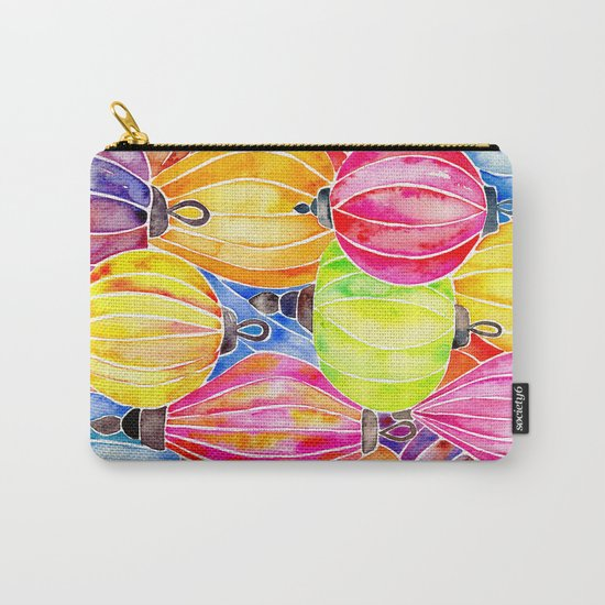 Vietnamese Rainbow Lanterns Carry-All Pouch