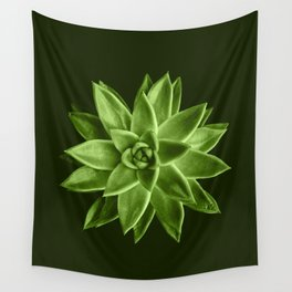 Greenery succulent Echeveria agavoides flower Wall Tapestry