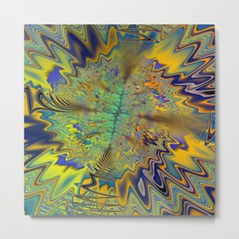 Tribal Beat Abstract Fractal Metal Print