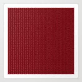 Fuck You - Pin Stripe - conor mcgregor Red Art Print