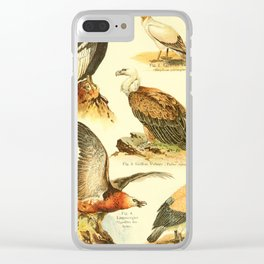 William Playne Pycraft - A Book of Birds (1908) - Plate 9: Vultures Clear iPhone Case
