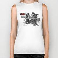 ewok Biker Tanks featuring Ewok Village by foreverwars