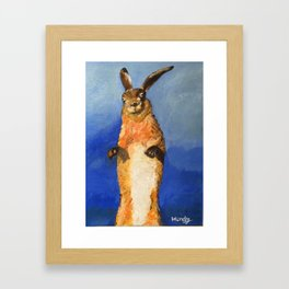 Jumping Bunny Rabbit Framed Art Print