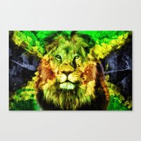 rasta Canvas Prints featuring Rasta  by gypsykissphotography
