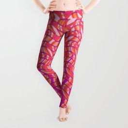 Pink Tangerine Twist Leggings