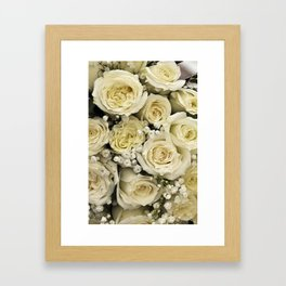 Bride's Bouquet Framed Art Print