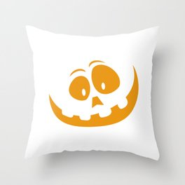 Smiling Orange Jack 'O Lantern Halloween Pumkin Face Throw Pillow