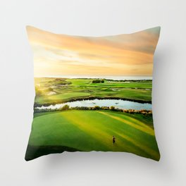 Golfing the Gong AE Throw Pillow