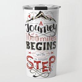 lettring quote journey Travel Mug