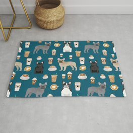 French Bulldog coffee pupuccino dog breed gifts frenchies must haves Rug