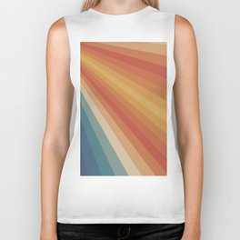 Retro 70s Sunrays Biker Tank