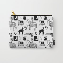 Dr Fluffton's horse clinic Black & White Carry-All Pouch