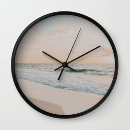 summer sunset x / cancun, mexico Wall Clock