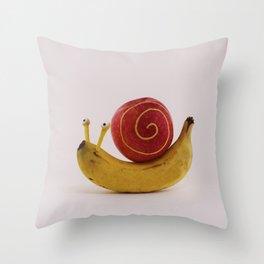 Snail fruit Throw Pillow