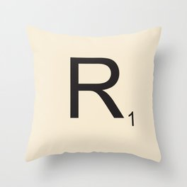 Scrabble R Throw Pillow