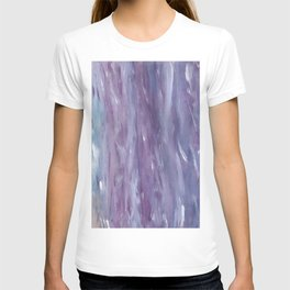 Touching Purple Blue Watercolor Abstract #1 #painting #decor #art #society6 T-shirt