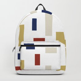 Abstract Theo van Doesburg Composition VIII (White) The Three Graces Backpack