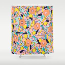 CIRCLES IN MOTION - pastel love Shower Curtain