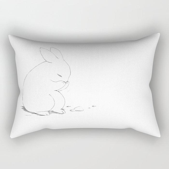 shy little bunny Rectangular Pillow