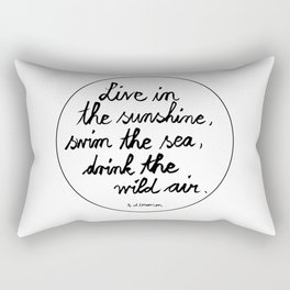 Sunshine, Sea, Wild Air Rectangular Pillow
