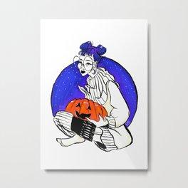 Pumpkins and Buns Metal Print