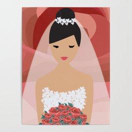 Roses Bride Poster