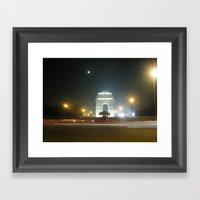 Rush Hour - India Gate Framed Art Print