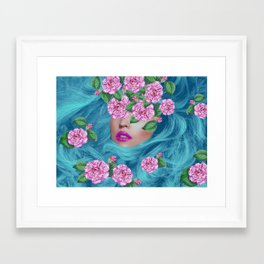Lady with Camellias Framed Art Print