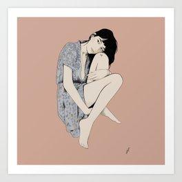 Patti Smith portrait by Robert Mapplethorpe Art Print