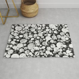 Points of Interest (B/W) Rug