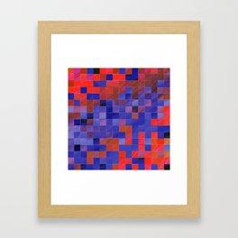 little colored squares -4- Framed Art Print