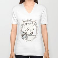 bambi V-neck T-shirts featuring BAMBI by TOO MANY GRAPHIX