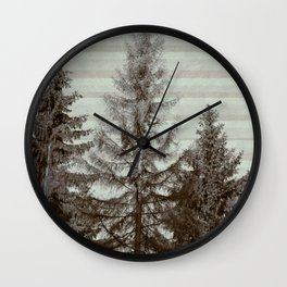 Three pine trees Wall Clock