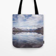 Mountain Lake Reflection Tote Bag