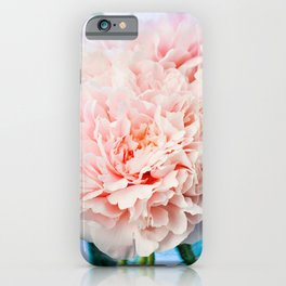 Peony Flower Photography, Pink Peony Floral Art Print Nursery Decor A Happy Life  - Peonies 1 iPhone Case