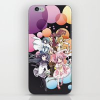madoka magica iPhone & iPod Skins featuring Puella Magi Madoka Magica - Only You by Yue Graphic Design