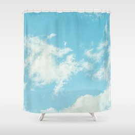 Perfect Blue Summer Sky Nature Photography Shower Curtain