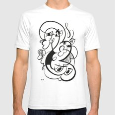 Doodle of the day V White SMALL Mens Fitted Tee