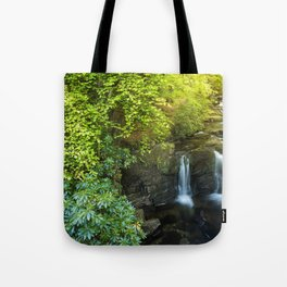 Magical forest waterfall Tote Bag
