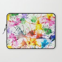 Watercolor Splashes Laptop Sleeve