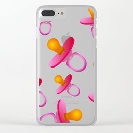 baby's dummy Clear iPhone Case