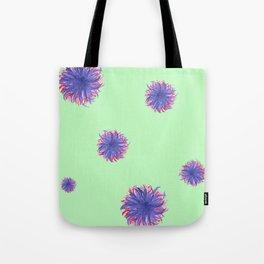 Green Purple Swirl Tote Bag