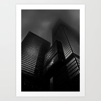 Downtown Toronto Fogfest No 15 Art Print