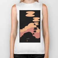 cloud Biker Tanks featuring Cloud by Herber Crispin