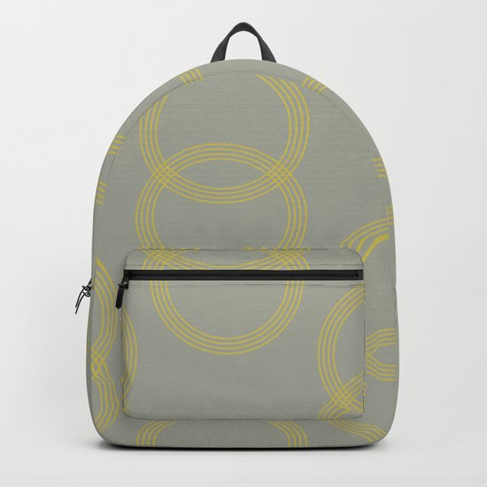 Simply Infinity Link Mod Yellow on Retro Gray Backpack