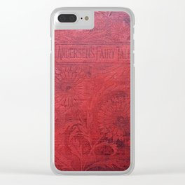 Antique Book Cover * Book Lovers * Literacy Art * Anderson's Fairy Tales * Red * Black Clear iPhone Case