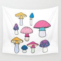 mushroom Wall Tapestries featuring Mushroom by Elyse Beisser