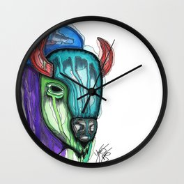 The Bison Wall Clock