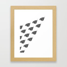 Butterfly swarm Framed Art Print
