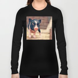 Piebald Pig puppy for Pig Lovers                                        Long Sleeve T-shirt